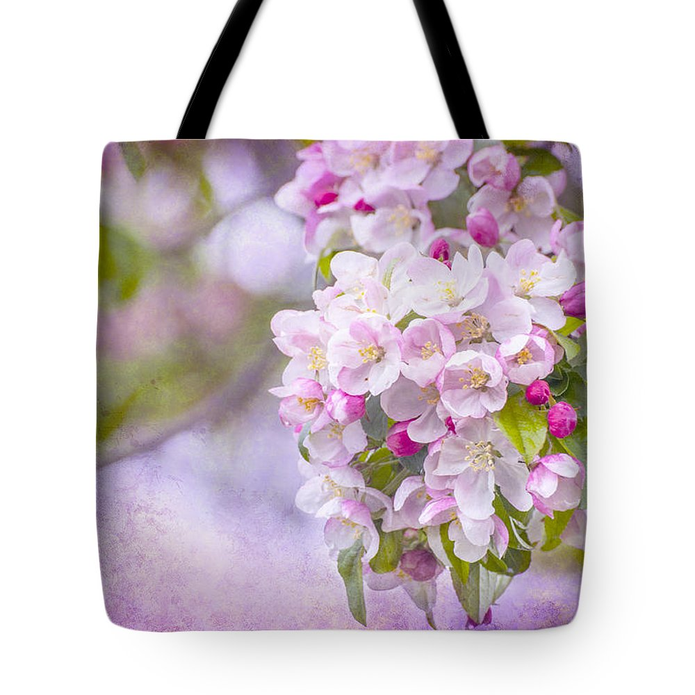 Pink Tote Bag featuring the photograph Spring Blossoms by Cathy Kovarik