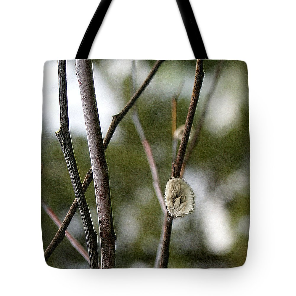 Spring Tote Bag featuring the digital art Spring Branches 1 by Patricia Keith