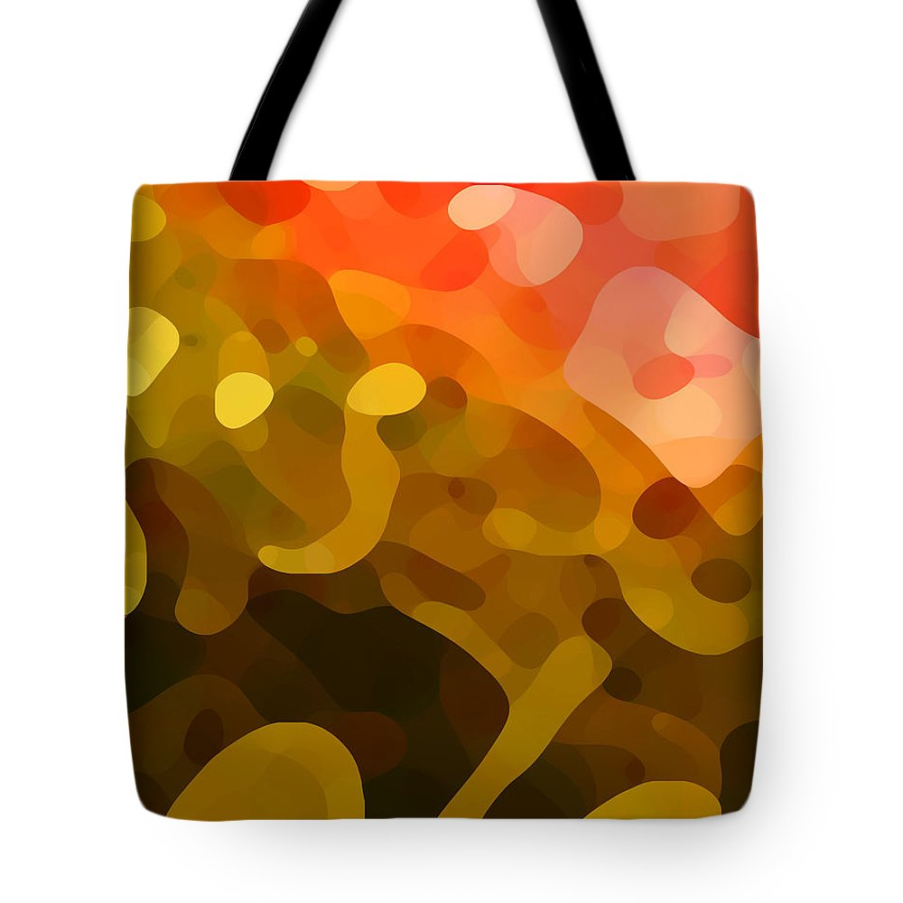 Abstract Tote Bag featuring the painting Spring Day by Amy Vangsgard