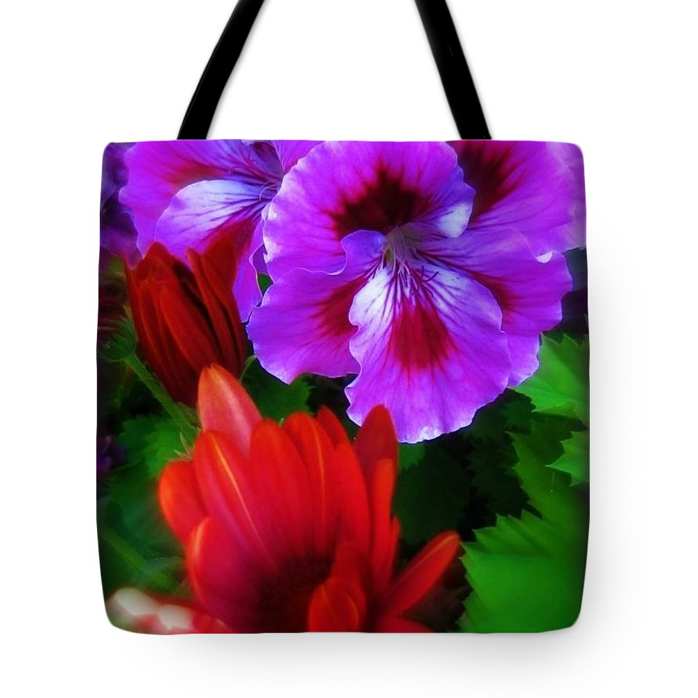 Flowers Tote Bag featuring the photograph Spring by Deahn   Benware
