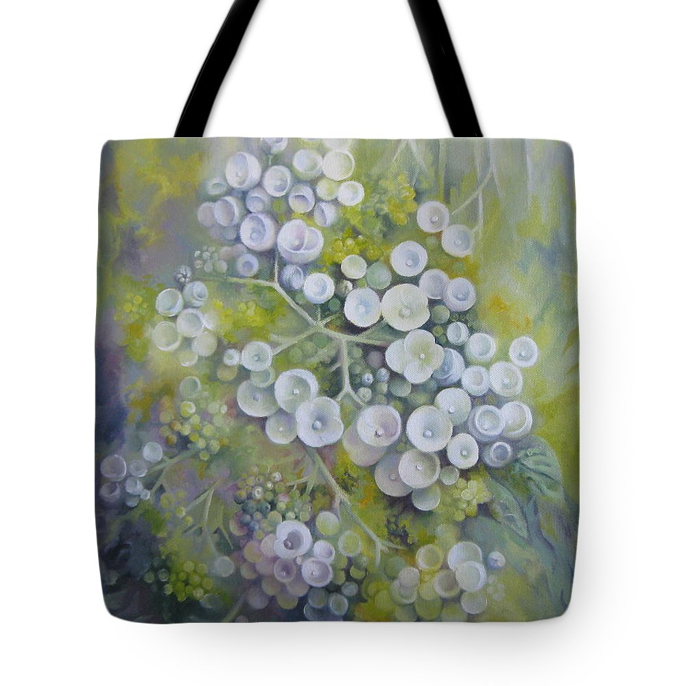 Spring Tote Bag featuring the painting Spring Dream by Elena Oleniuc