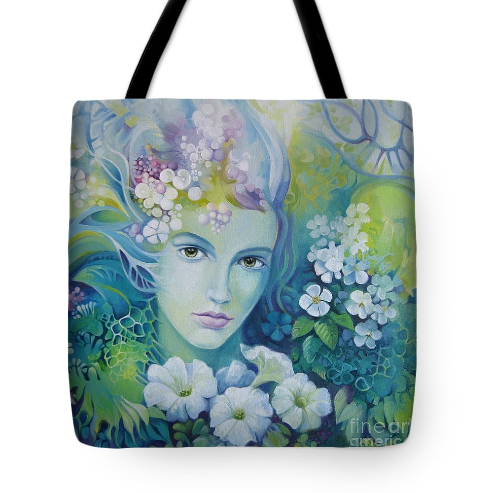 Spring Tote Bag featuring the painting Spring by Elena Oleniuc