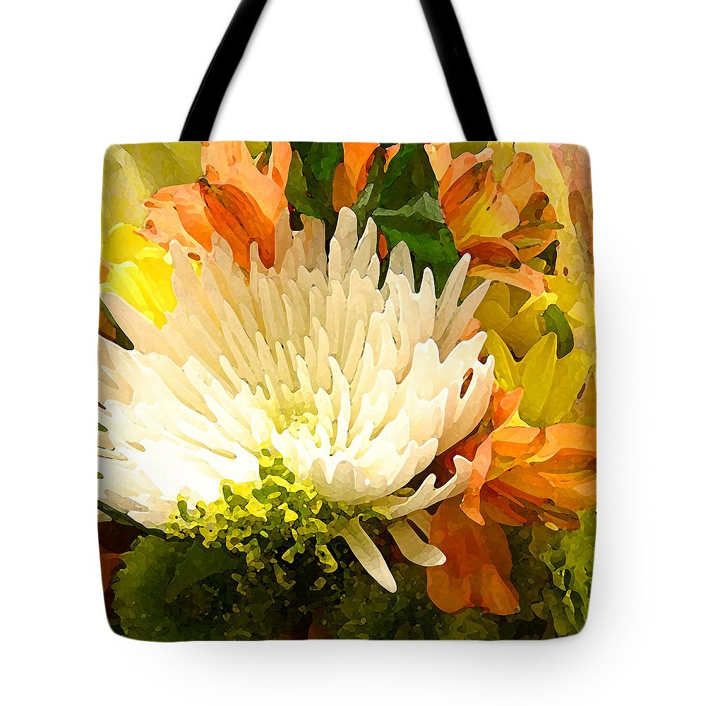 Roses Tote Bag featuring the painting Spring Flower Burst by Amy Vangsgard