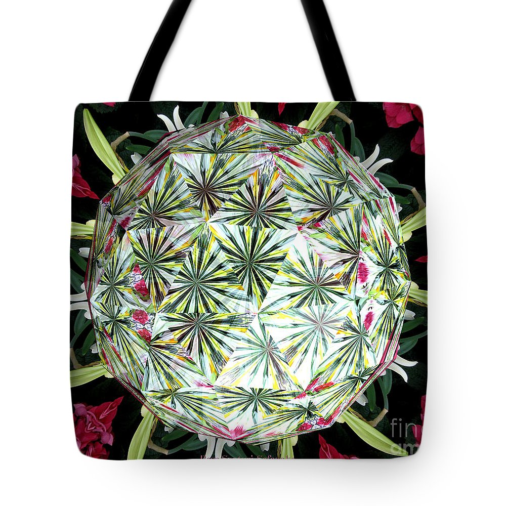 Hydrangeas Tote Bag featuring the photograph Spring Flowers Kaleidoscope Under Glass by Rose Santuci-Sofranko