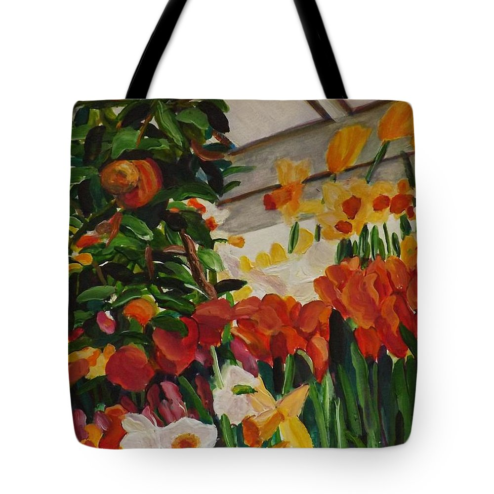 Spring Tote Bag featuring the painting Spring Flowers by Richard Nowak