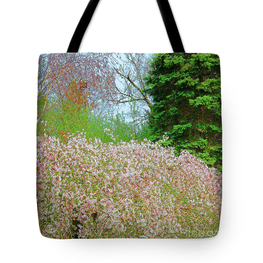 Spring Tote Bag featuring the photograph Spring Foliage by Tina M Wenger