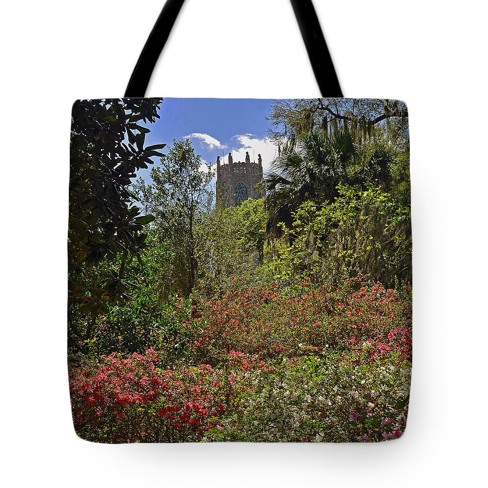 Landscapes Tote Bag featuring the photograph Spring Garden by Deborah Good