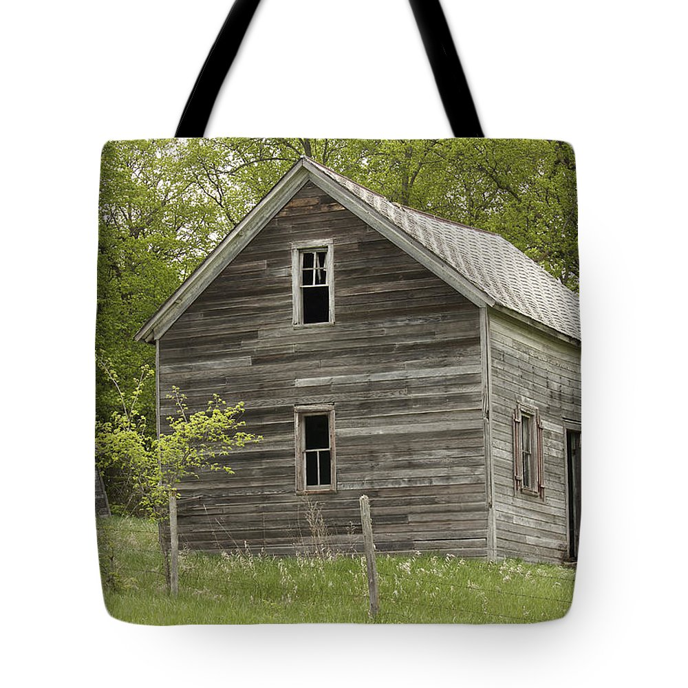 Farmhouse Tote Bag featuring the photograph Spring Has Arrived At Captain Ed's by Penny Meyers