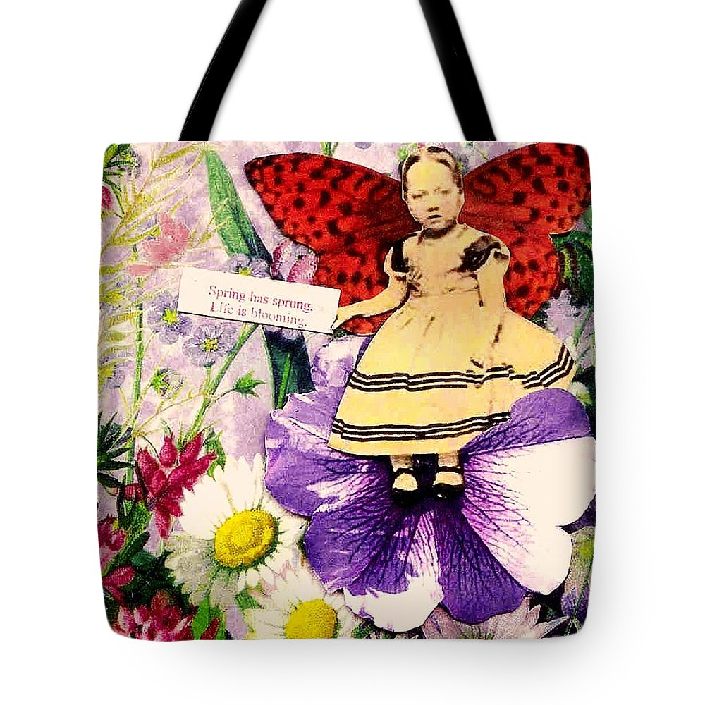 Spring Tote Bag featuring the mixed media Spring Has Sprung by Desiree Paquette