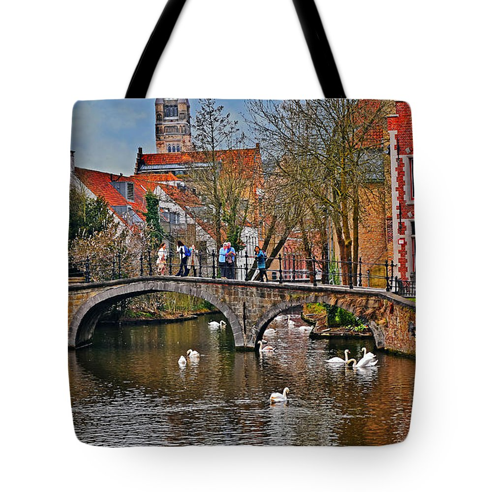 Travel Tote Bag featuring the photograph Spring In Bruges by Elvis Vaughn