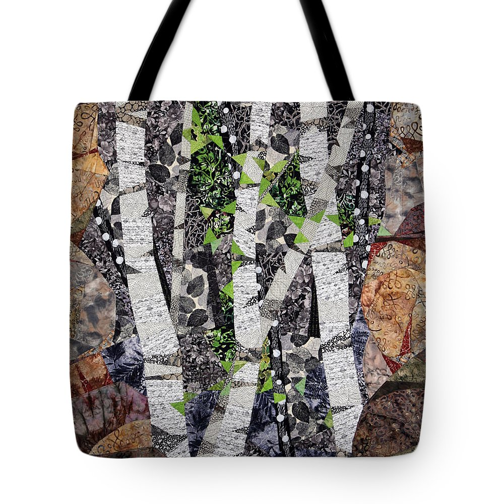 Trees Tote Bag featuring the tapestry - textile Spring in the Mountains by Linda Beach