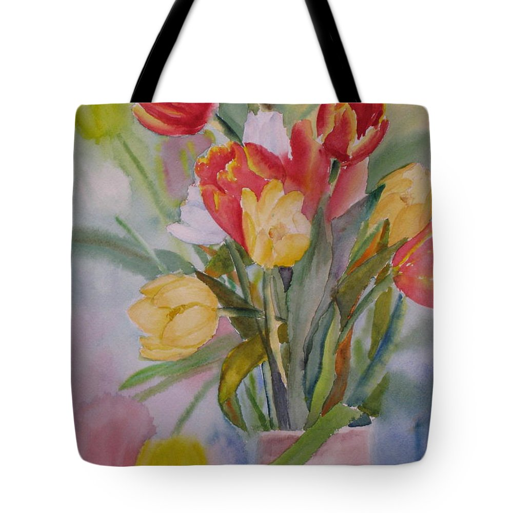 Arrangement Tote Bag featuring the painting Spring Is Here by Mohamed Hirji