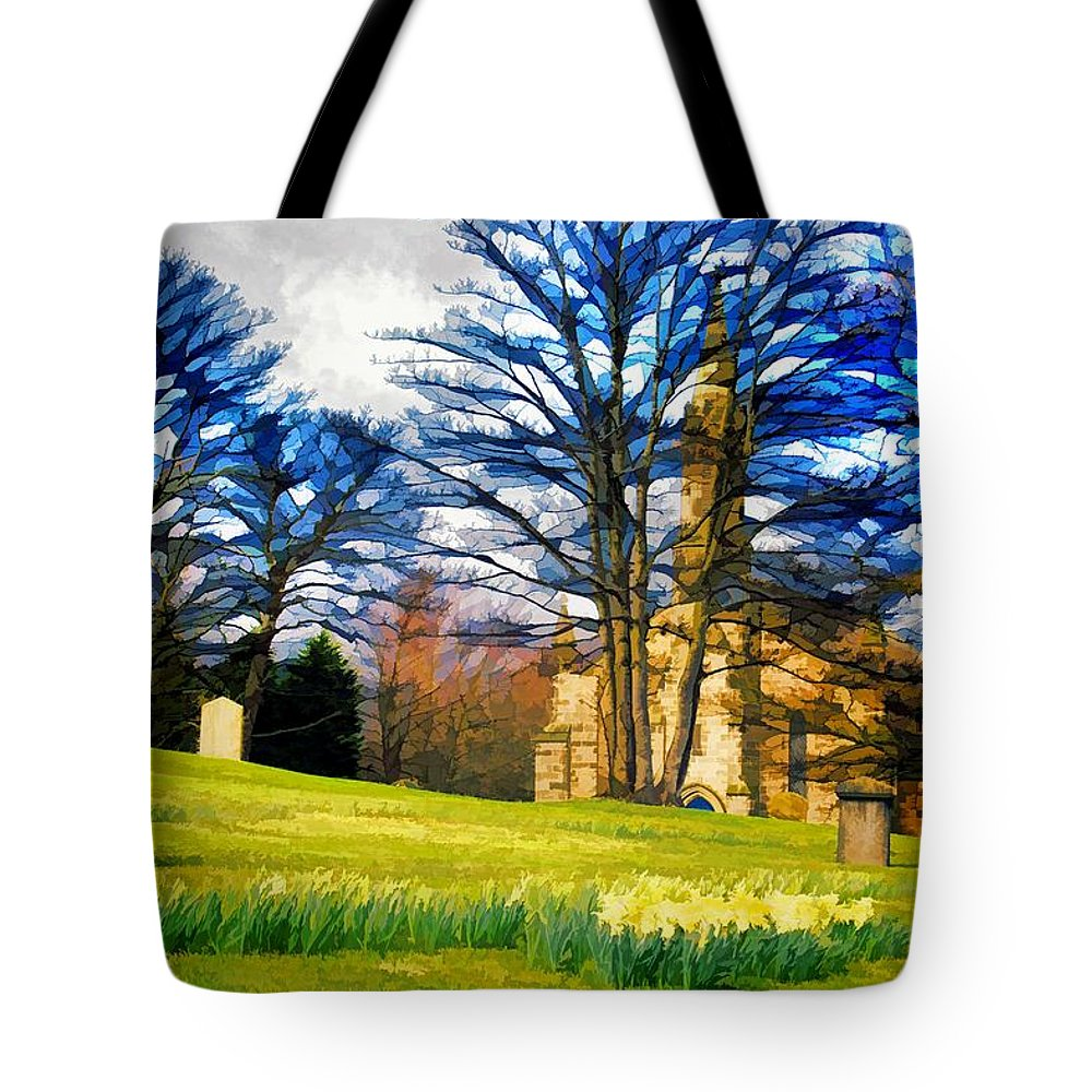 Holy Tote Bag featuring the digital art Spring Is In The Air by John Lynch