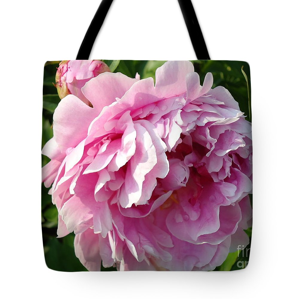 Flower Tote Bag featuring the photograph Spring Peony by H Cooper