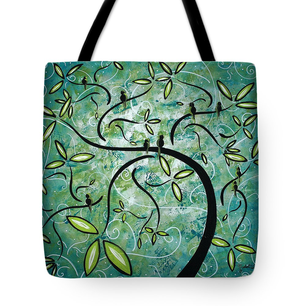 Wall Tote Bag featuring the painting Spring Shine by MADART by Megan Duncanson