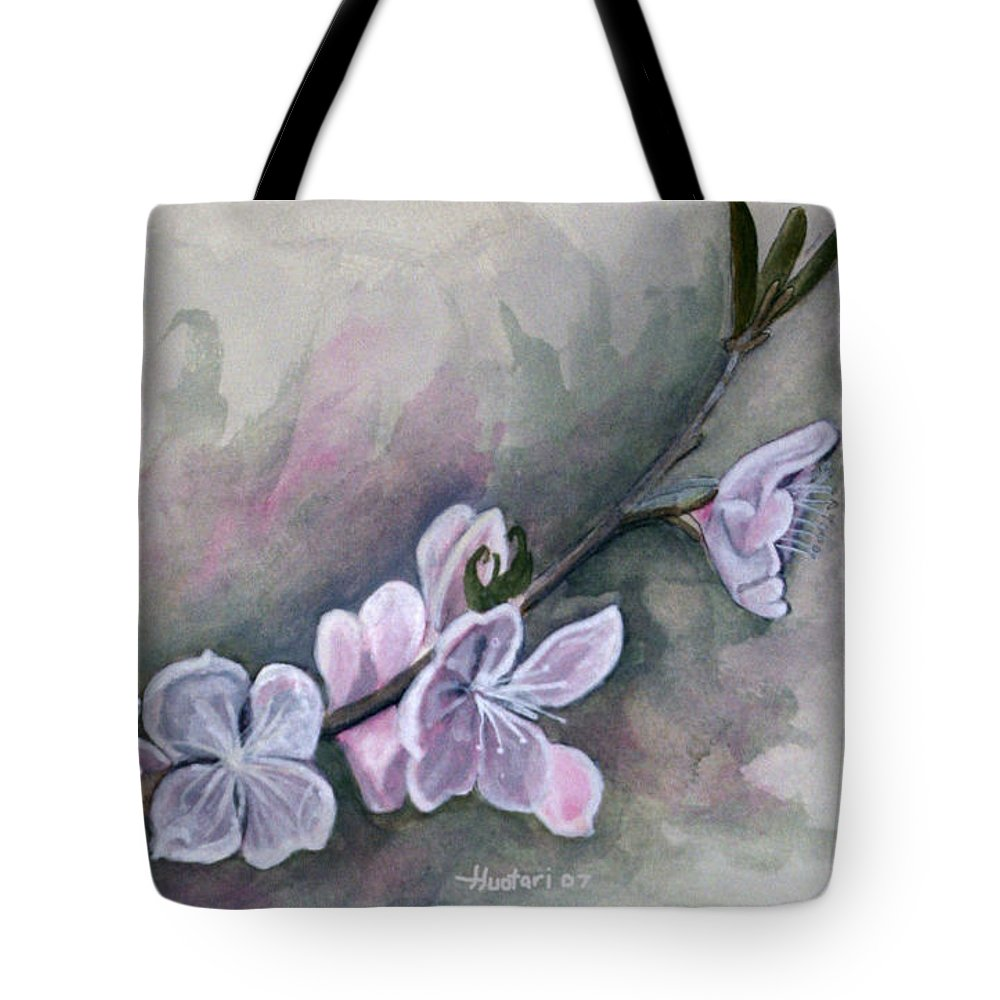 Rick Huotari Tote Bag featuring the painting Spring Splendor by Rick Huotari