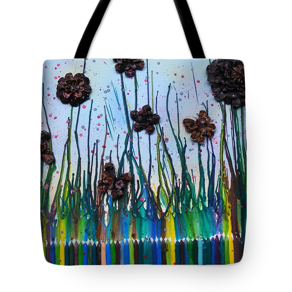 Spring Tote Bag featuring the mixed media Spring Time by Misty Clark