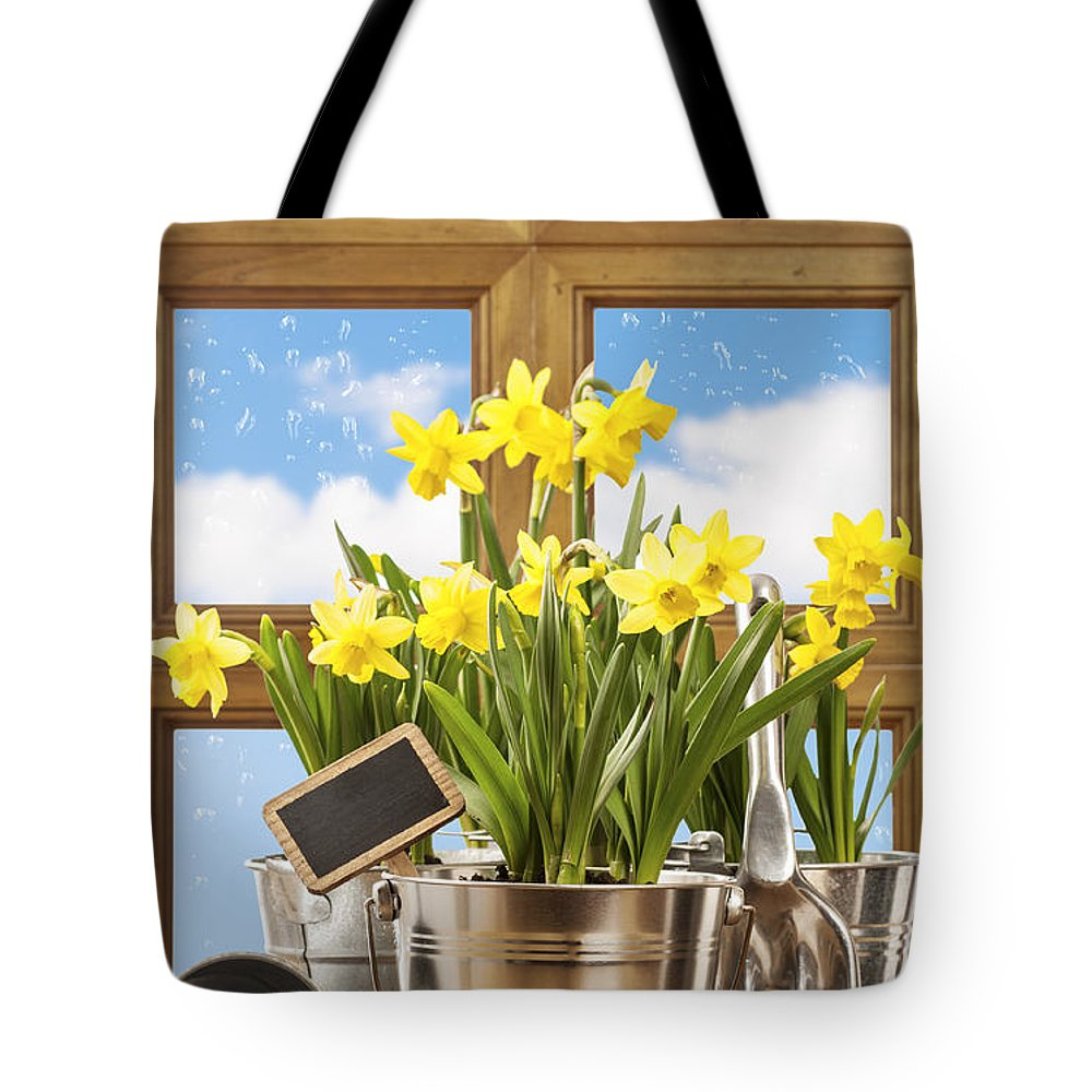 Spring Tote Bag featuring the photograph Spring Window by Amanda Elwell