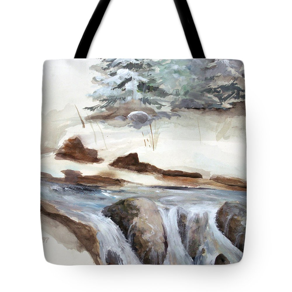 Rick Huotari Tote Bag featuring the painting Springtime by Rick Huotari
