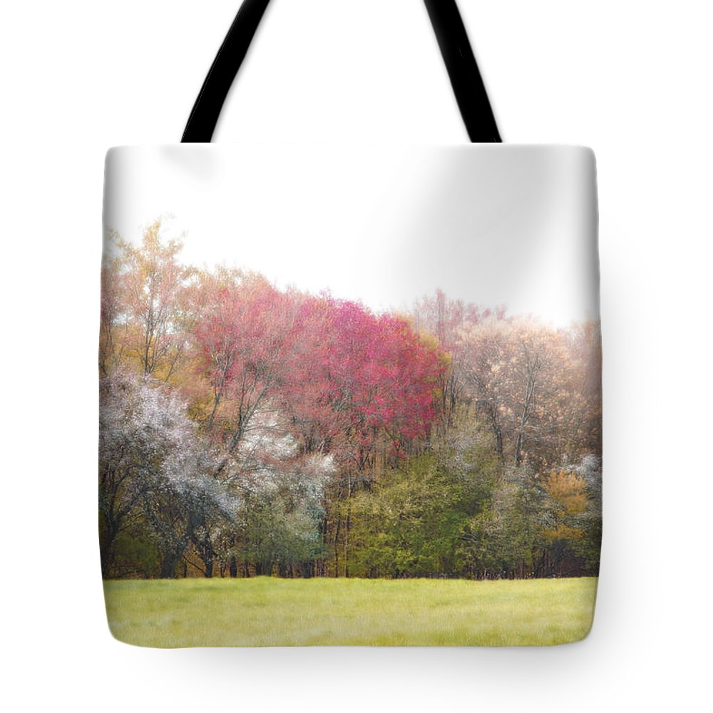 Spring Tote Bag featuring the photograph Springtime Trees In Bloom by Brooke T Ryan