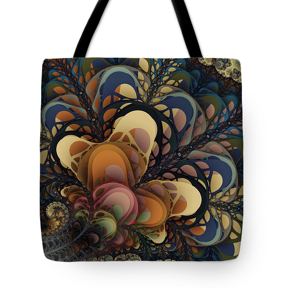 Fractals Tote Bag featuring the digital art Sprouts by Kim Redd