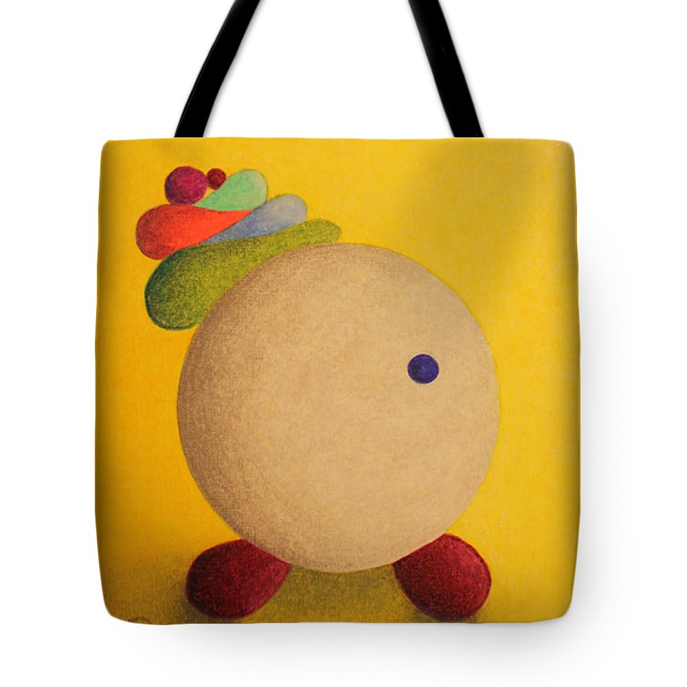 Spunky Tote Bag featuring the drawing Spunky by Caren Kinne
