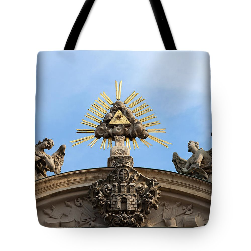 Church Tote Bag featuring the photograph St Anne's Church In Budapest Architectural Details by Artur Bogacki