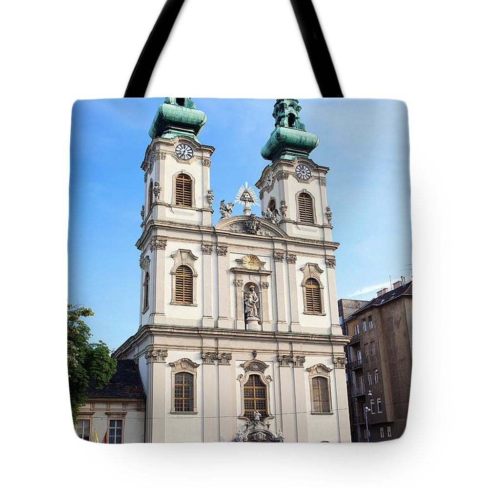 Church Tote Bag featuring the photograph St Anne's Church In Budapest by Artur Bogacki