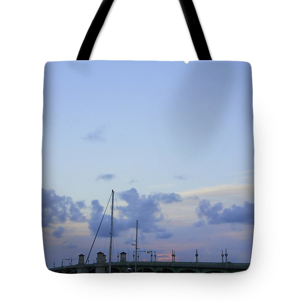St. Augustine Tote Bag featuring the photograph St. Augustine Sunset by Laurie Perry