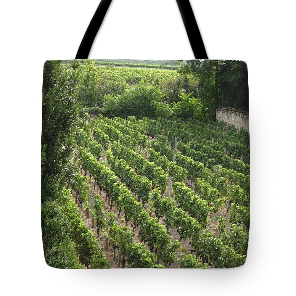 France Tote Bag featuring the photograph St. Emilion Vineyard by HEVi FineArt