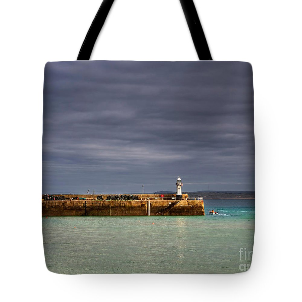 St Ives Tote Bag featuring the photograph St Ives In Cornwall by Louise Heusinkveld