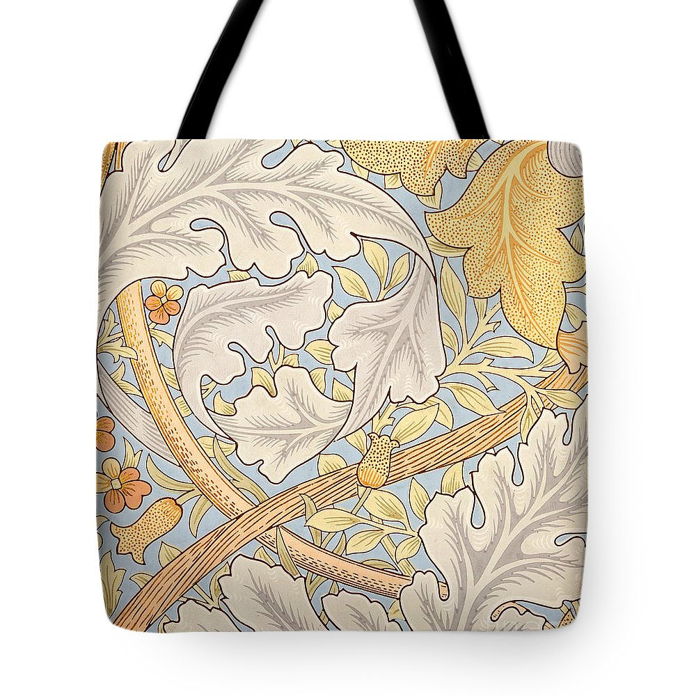 St James Tote Bag featuring the painting St James Wallpaper Design by William Morris