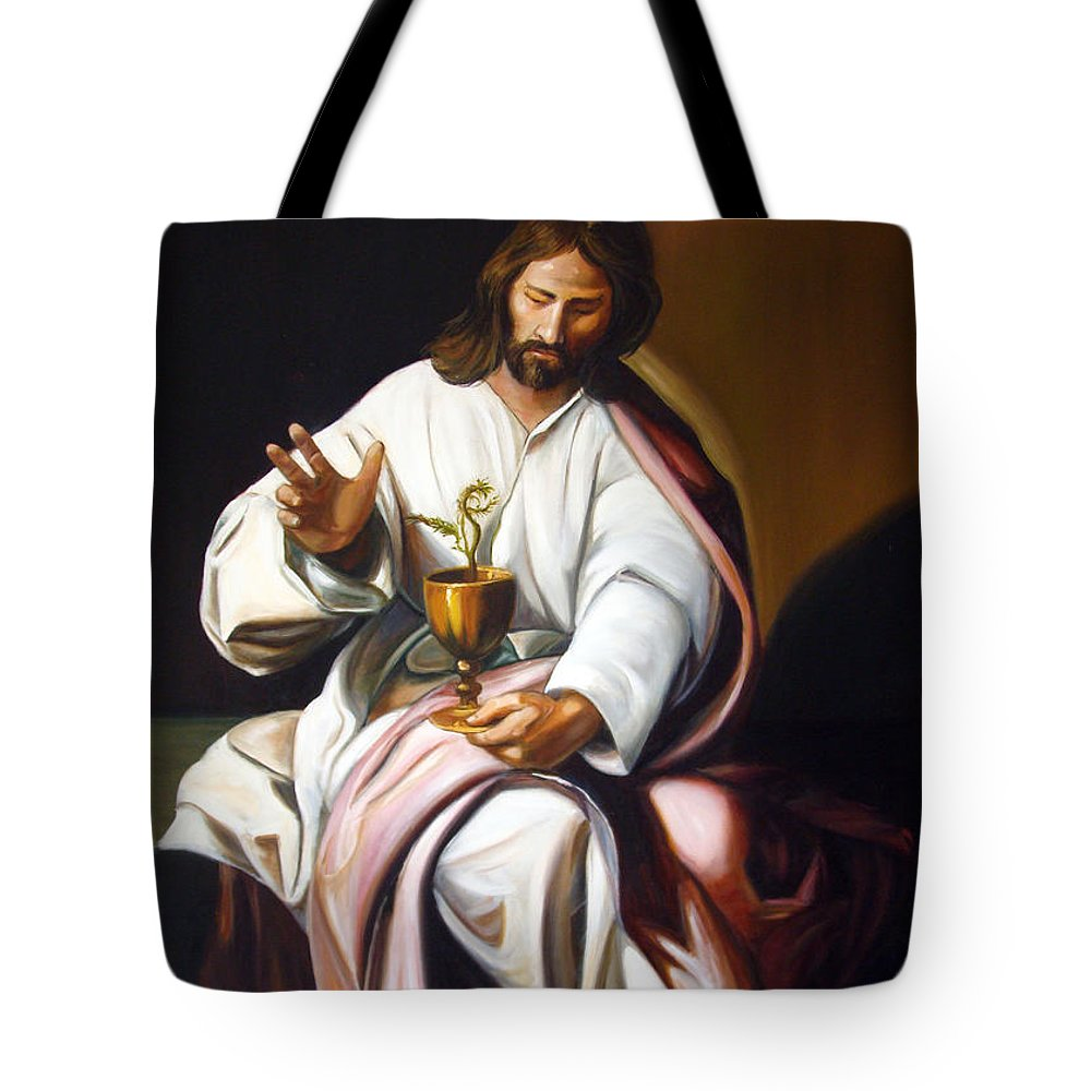 Classic Art Tote Bag featuring the painting St John The Evangelist by Silvana Abel