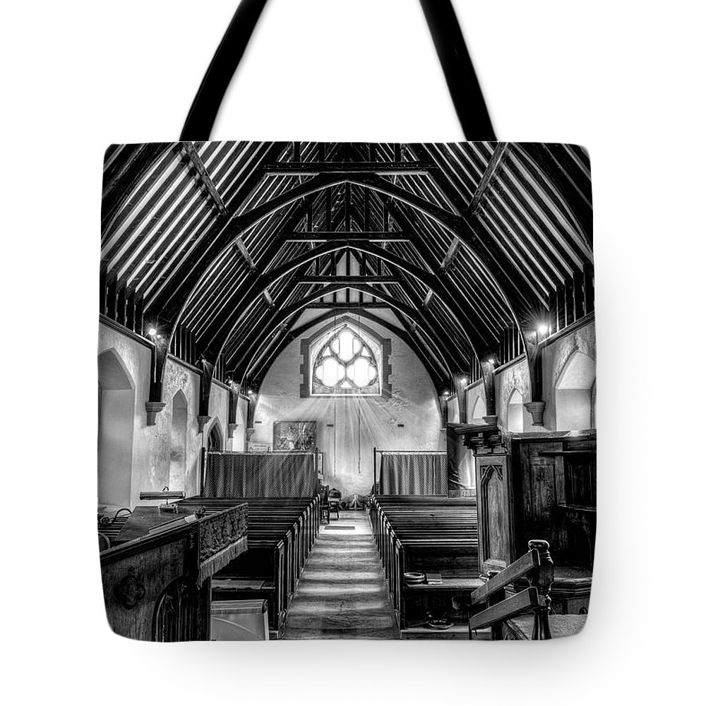 1861 Tote Bag featuring the photograph St John Ysbyty Ifan by Adrian Evans