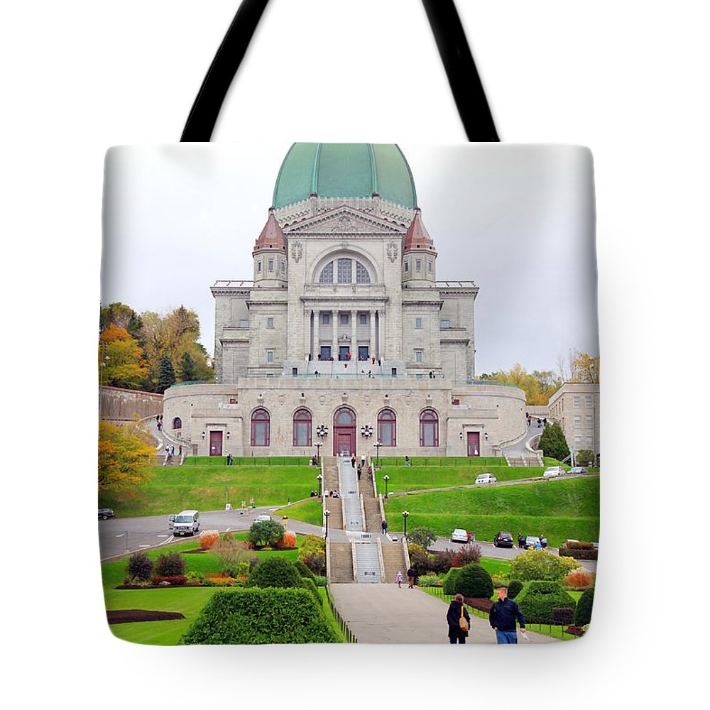 Montreal Tote Bag featuring the photograph St. Joseph Oratory by Valentino Visentini