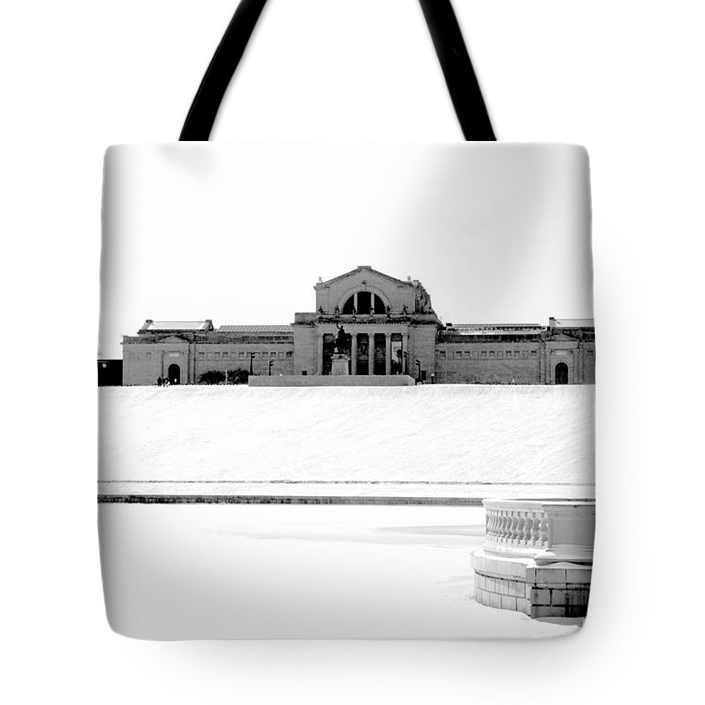 St Tote Bag featuring the photograph St Louis Art Museum And Art Hill by Larry Jost