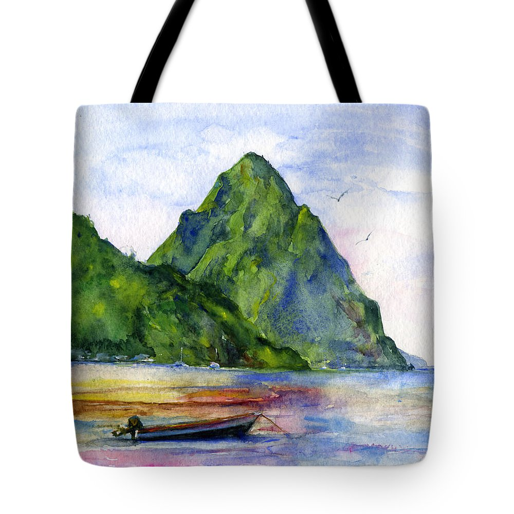St. Lucia Tote Bags