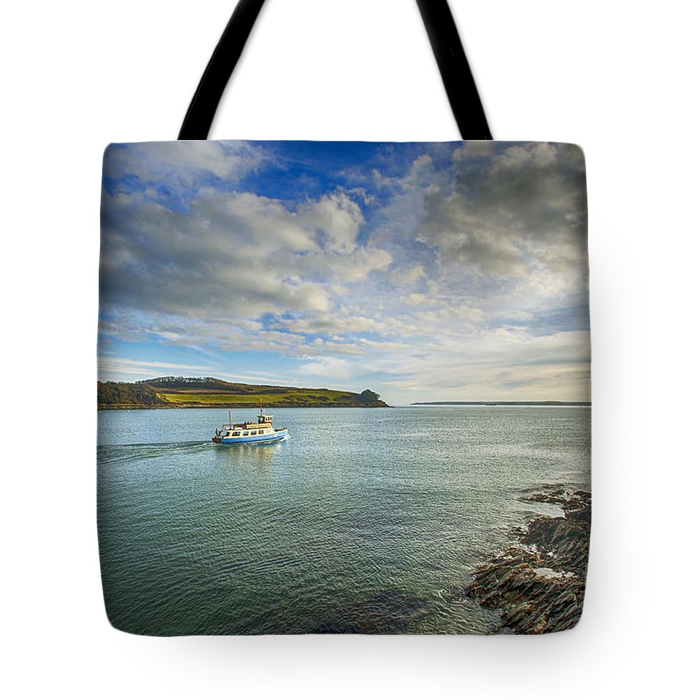 Cornwall Canvas Cornwall Prints Tote Bag featuring the photograph St Mawes Ferry Duchess Of Cornwall by Chris Thaxter