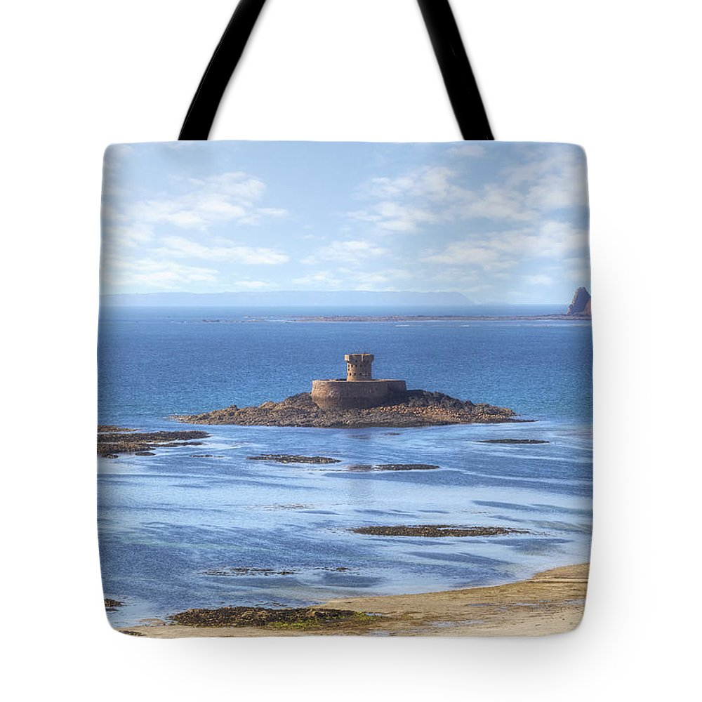 St Ouen's Bay Tote Bag featuring the photograph St Ouen's Bay by Joana Kruse