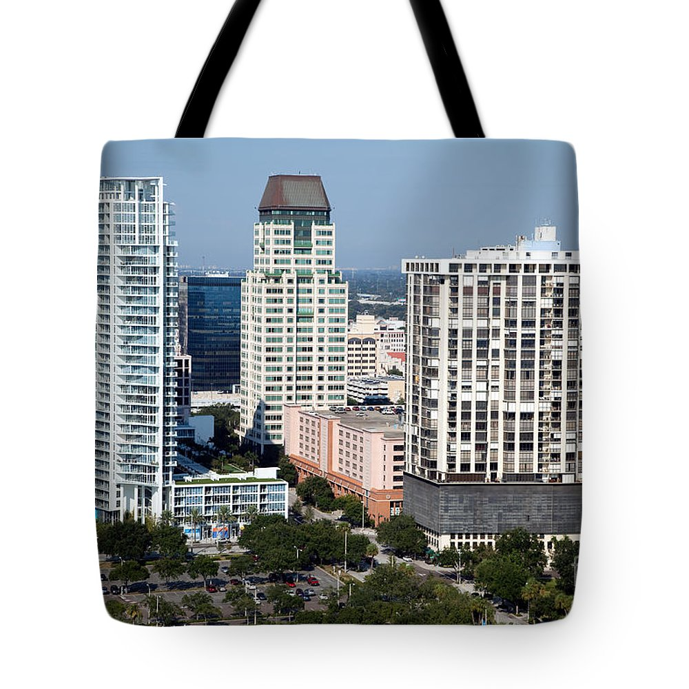 Florida Tote Bag featuring the photograph St Petersburg Florida by Bill Cobb