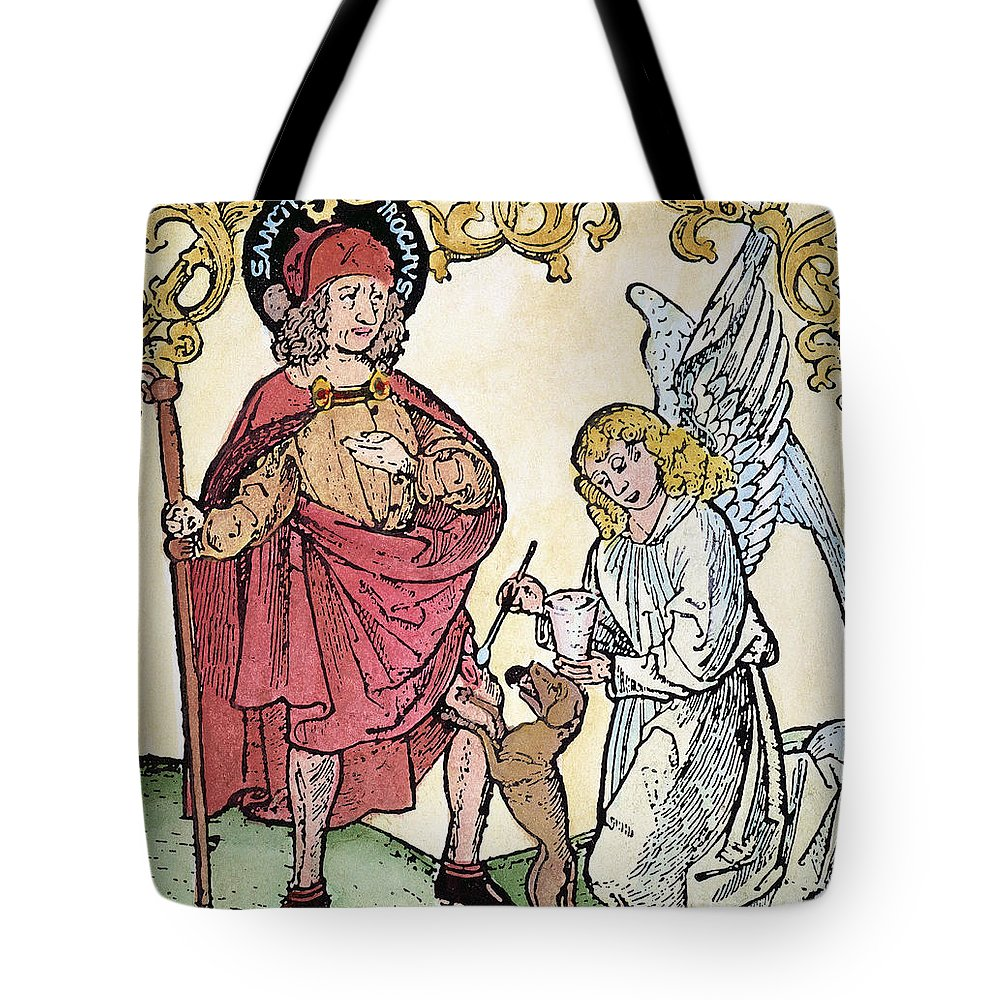 14th Century Tote Bag featuring the photograph St. Roch (c1350-c1379) by Granger