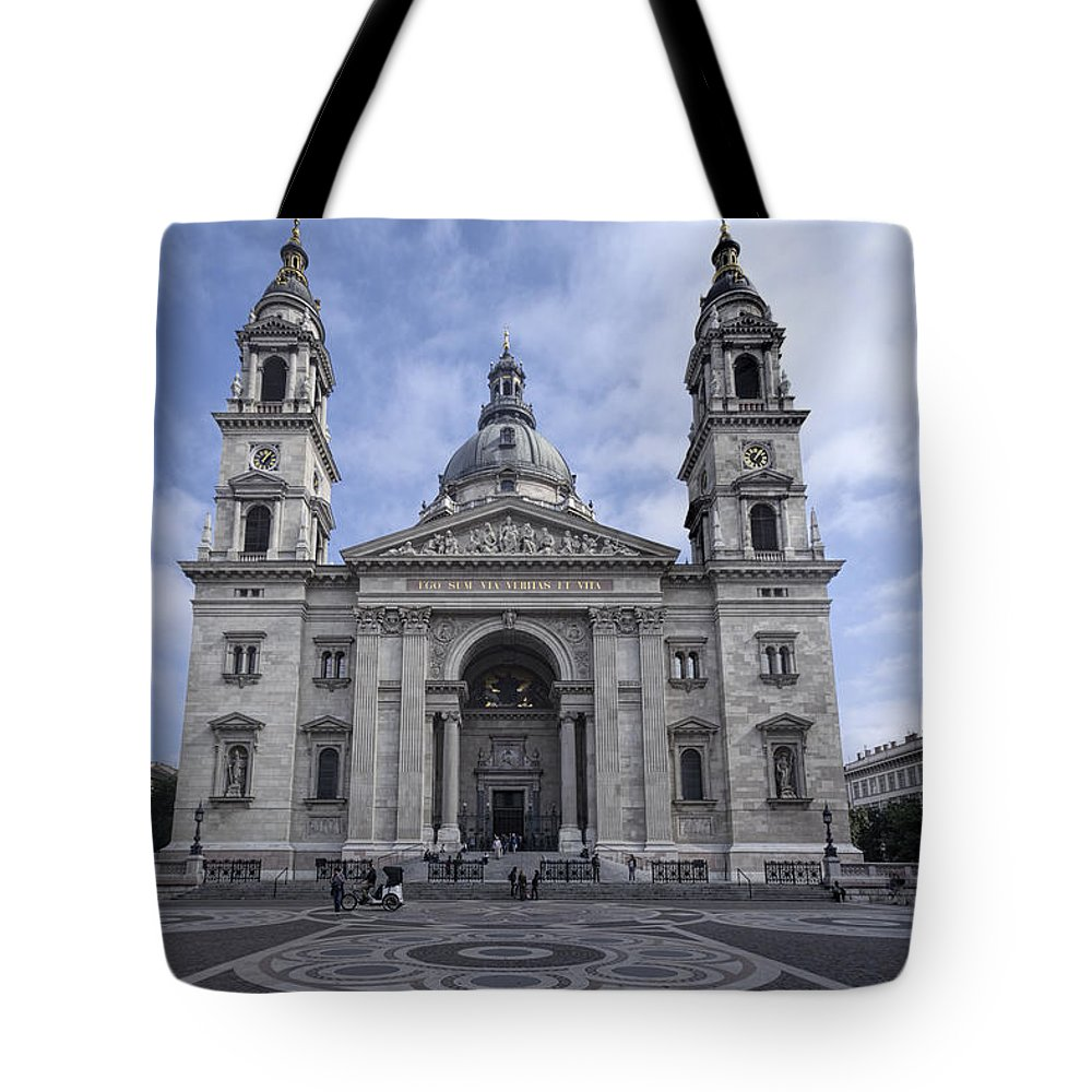 Joan Carroll Tote Bag featuring the photograph St Stephens Basilica Budapest by Joan Carroll