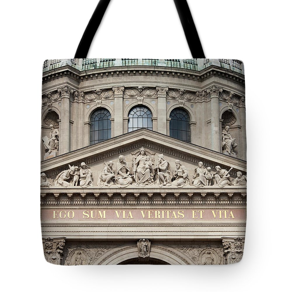 Saint Tote Bag featuring the photograph St. Stephen's Basilica Closeup by Artur Bogacki