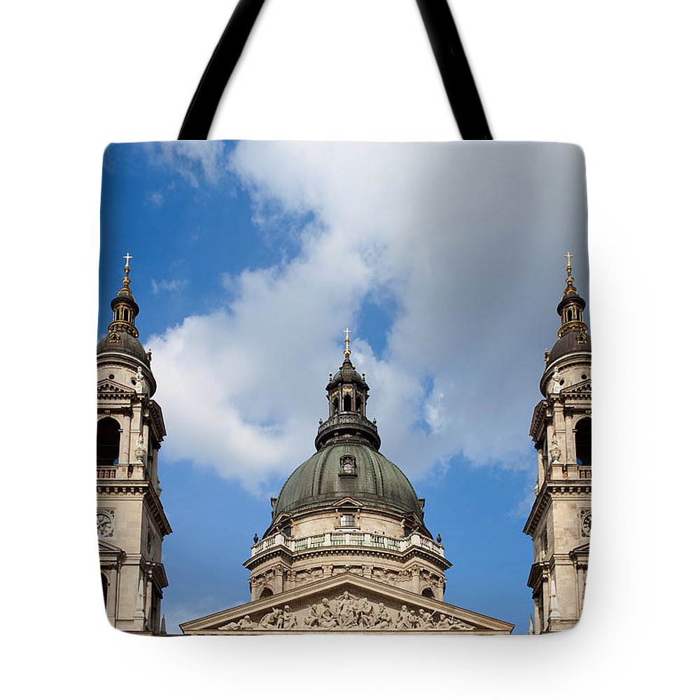 Saint Tote Bag featuring the photograph St. Stephen's Basilica Dome And Bell Towers by Artur Bogacki
