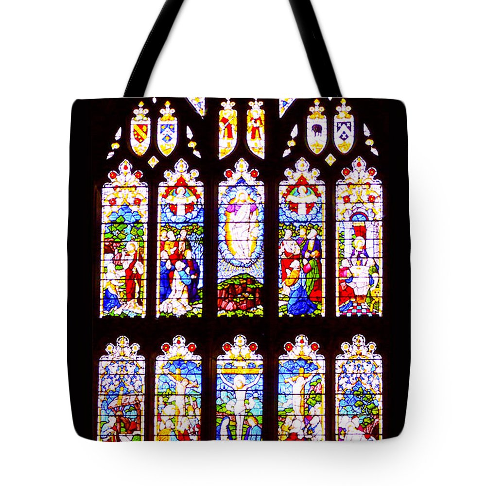 Window Tote Bag featuring the photograph St Thomas The Apostle Church Heptonstall by Peter McHallam