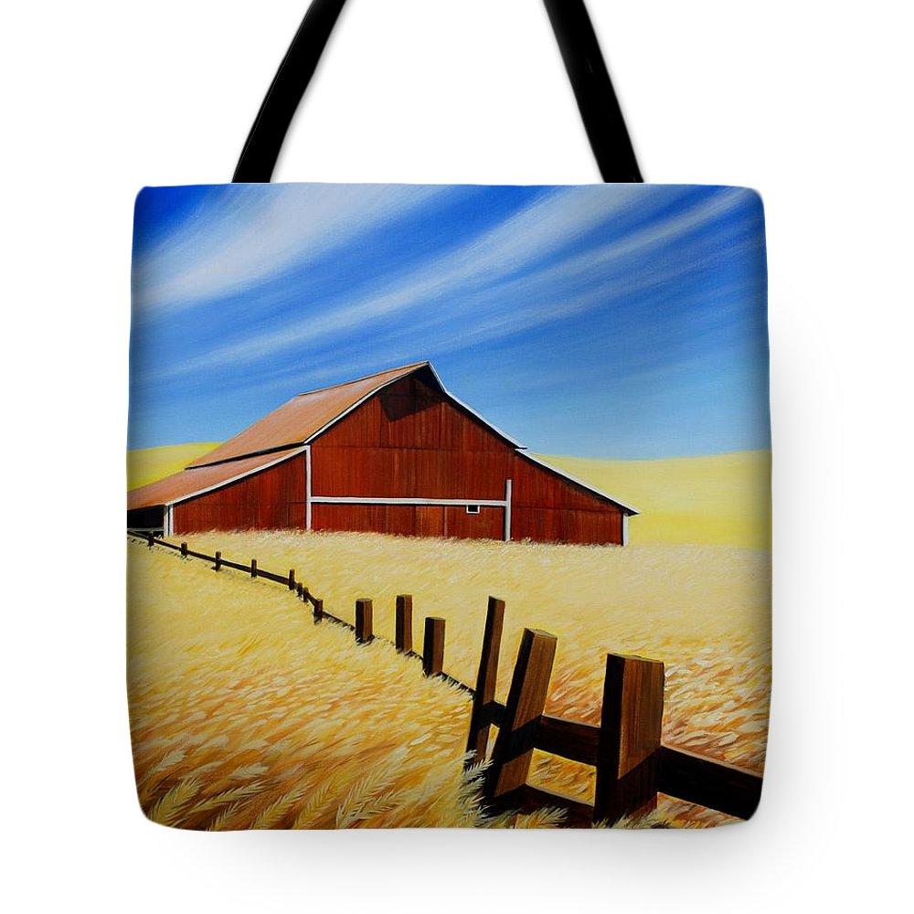 Barn Tote Bag featuring the painting Stable near St. Johns by Leonard Heid