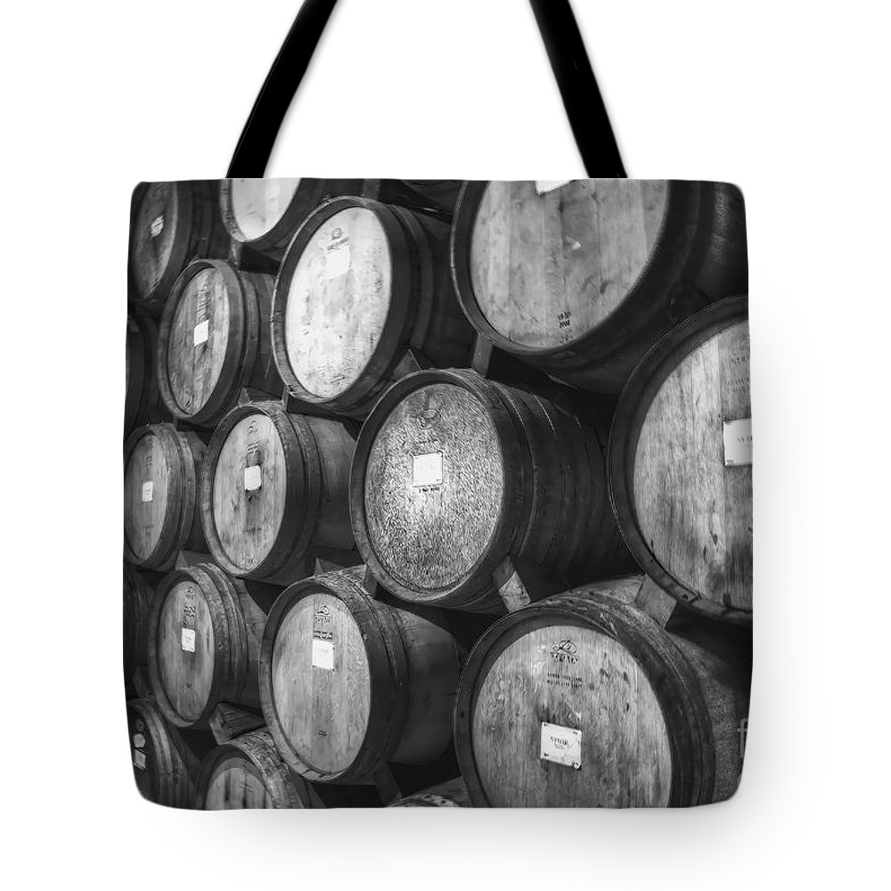 Barrels Tote Bag featuring the photograph Stacked Barrels by Diego Re