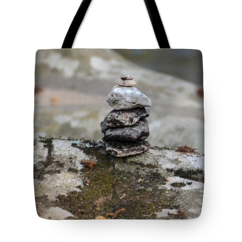 Stacked Tote Bag featuring the photograph Stacked Stones by Bill Cannon