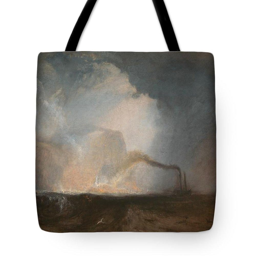 1831 Tote Bag featuring the painting Staffa - Fingal's Cave by JMW Turner