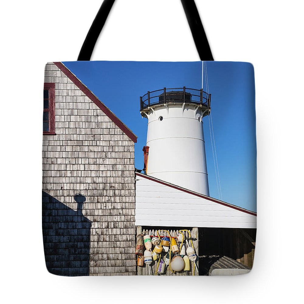 Cape Cod Tote Bag featuring the photograph Stage Harbor Light by John Greim